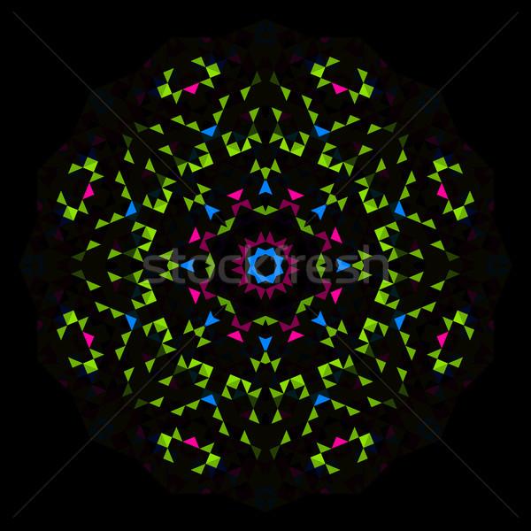 Abstract geometrica luminoso caleidoscopio pattern cerchio Foto d'archivio © ESSL