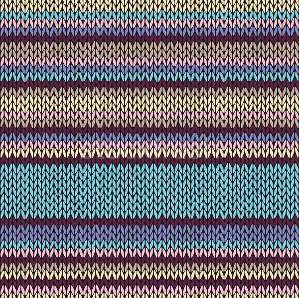 Sin costura color a rayas de punto patrón textura Foto stock © ESSL