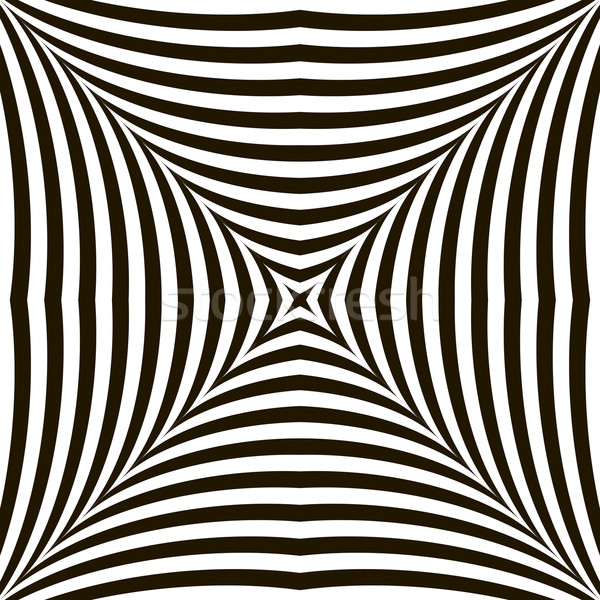 Black and White Geometric Vector Shimmering Optical Illusion. Modern Flickering Effect. Op Art Desig Stock photo © ESSL