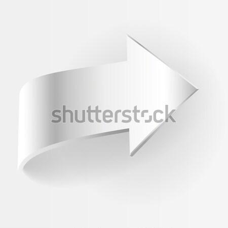 White arrow. Vector illustration Stock photo © ESSL