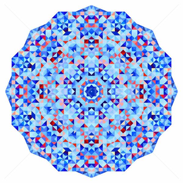 Resumen colorido círculo fondo geométrico vector Foto stock © ESSL