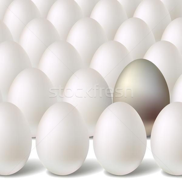 銀 ベクトル 卵 イースター 食品 だけ ストックフォト © ESSL