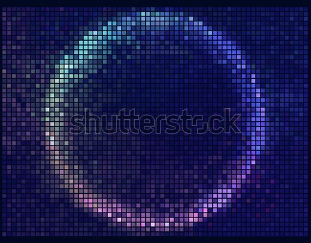 Smile. Color abstract lights disco background. Square pixel mosa Stock photo © ESSL