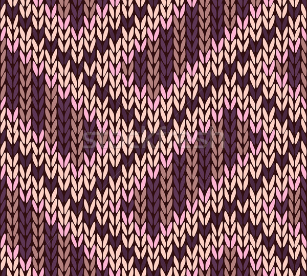 Knit woolen seamless jacquard ornament texture. Fabric color tra Stock photo © ESSL