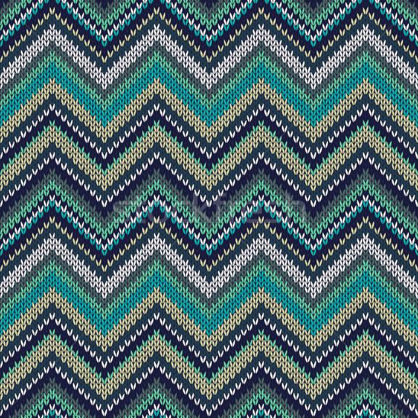 ストックフォト: シームレス · 編まれた · パターン · スタイル · ファッション · 色