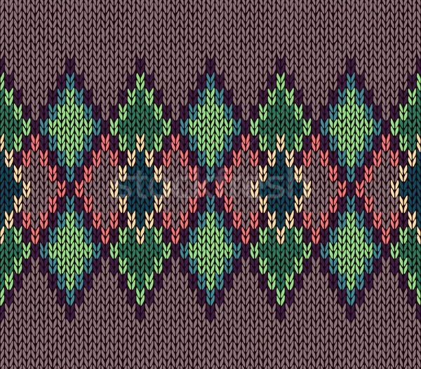 Seamless color knitted ornament pattern Stock photo © ESSL