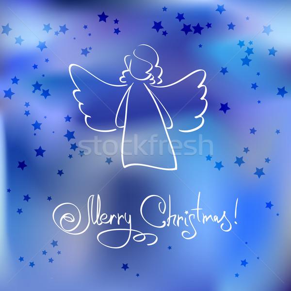 Anjo céu luz arte inverno Foto stock © ESSL
