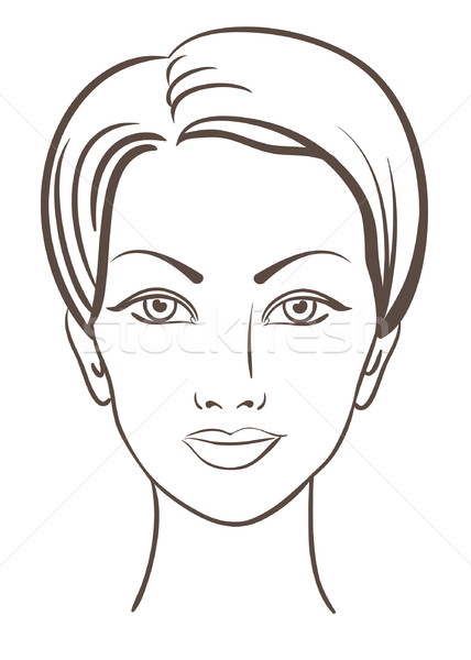 beautiful woman face vector illustration Stock photo © ESSL