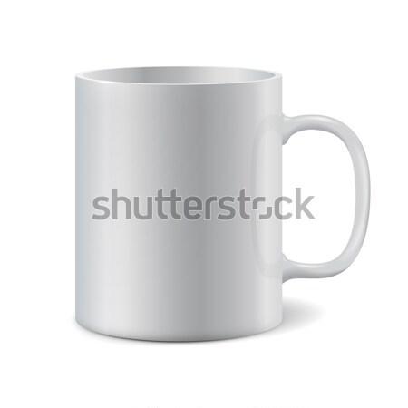 White ceramic mug for printing corporate logo Stock photo © ESSL