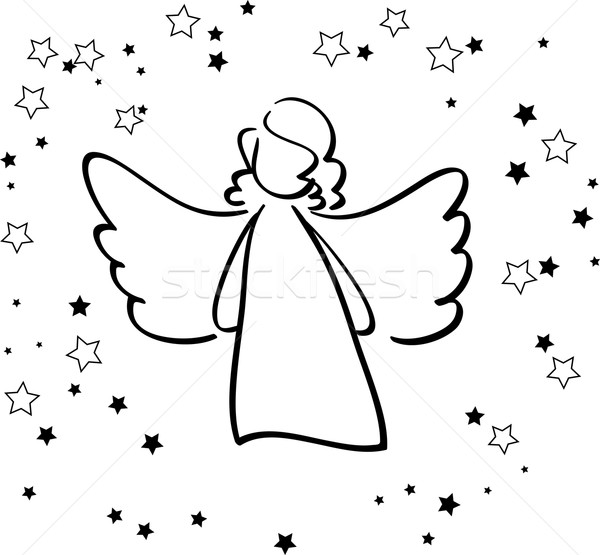 Angel and Stars Stock photo © ESSL