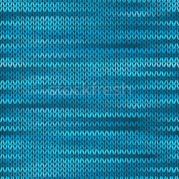Seamless Knitted Melange Pattern. Blue Turquoise Black White Col Stock photo © ESSL