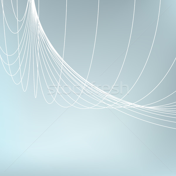 Abstract geometric background. Curves diverging fine lines in perspective Stock photo © ESSL