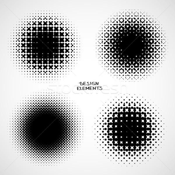 полутоновой фоны вектора набор изолированный современных Сток-фото © ESSL