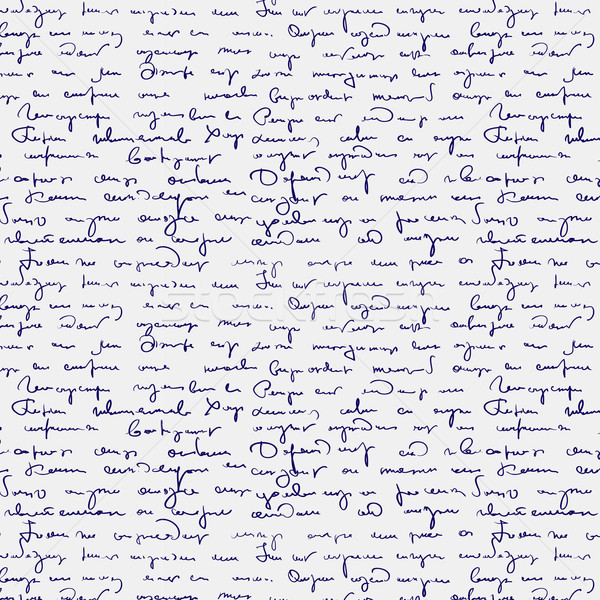 Seamless abstract handwritten text pattern  Stock photo © ESSL