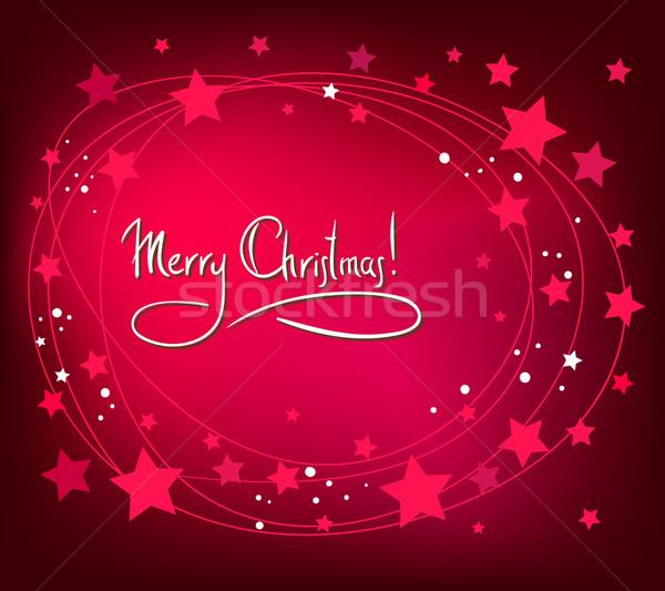 Noël résumé carte blanche étoiles rouge Photo stock © ESSL