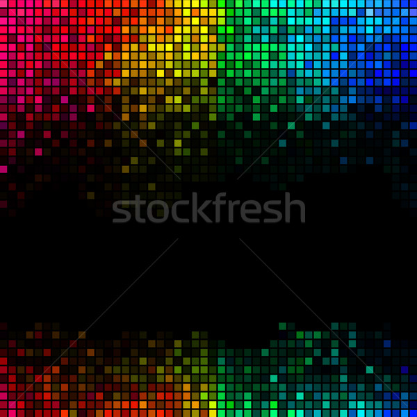 Multicolor abstract lights disco background. Square pixel mosaic Stock photo © ESSL