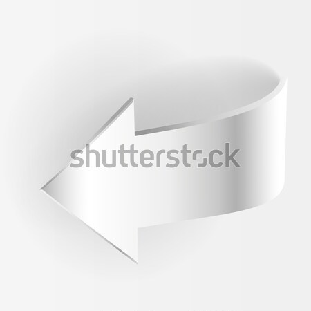 Arrow Points Down. White Color Stock photo © ESSL