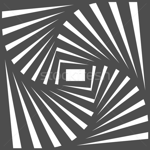 Black and white optical illusion. Op art vector background with  Stock photo © ESSL