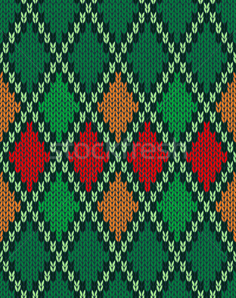 Seamless Christmas Knitted Pattern. Style Knit woolen jacquard o Stock photo © ESSL