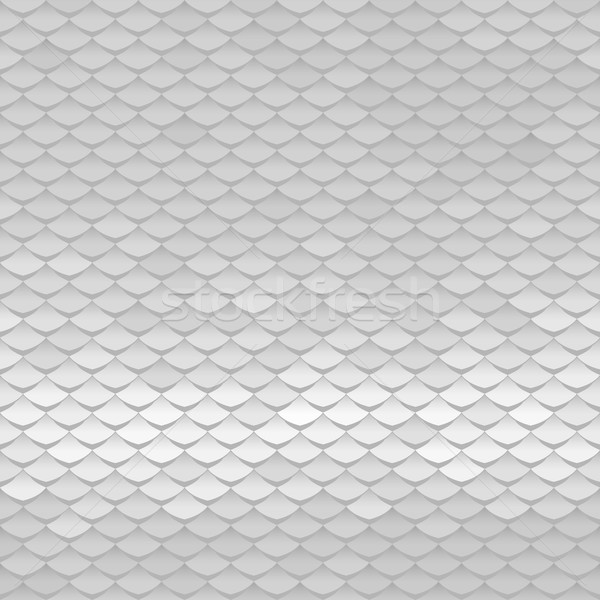 White texture  Abstract scale pattern  Roof tiles background