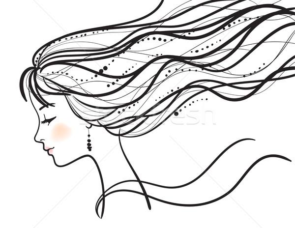 beautiful woman face vector illustration Stock photo © ESSL