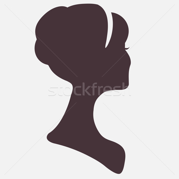 Beautiful woman  head silhouette with stylish hairstyle Stock photo © ESSL