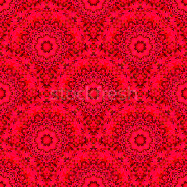 Abstract Seamless Red Geometric Vector Pattern Stock photo © ESSL
