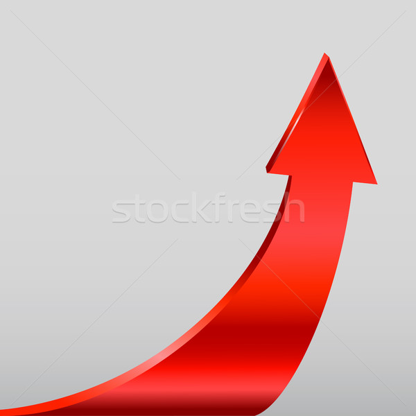 Red arrow and neutral grey background. Stock photo © ESSL