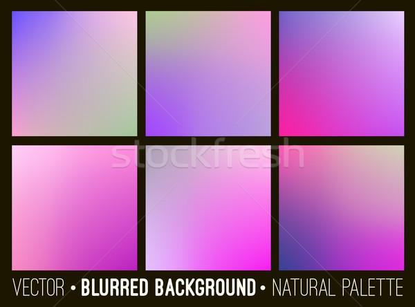 Color resumen borroso establecer rosa lila Foto stock © ESSL