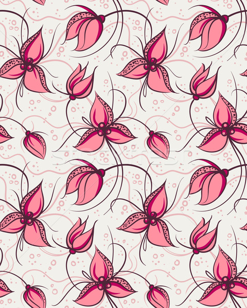 Seamless pattern red orchid flowers  Stock photo © ESSL