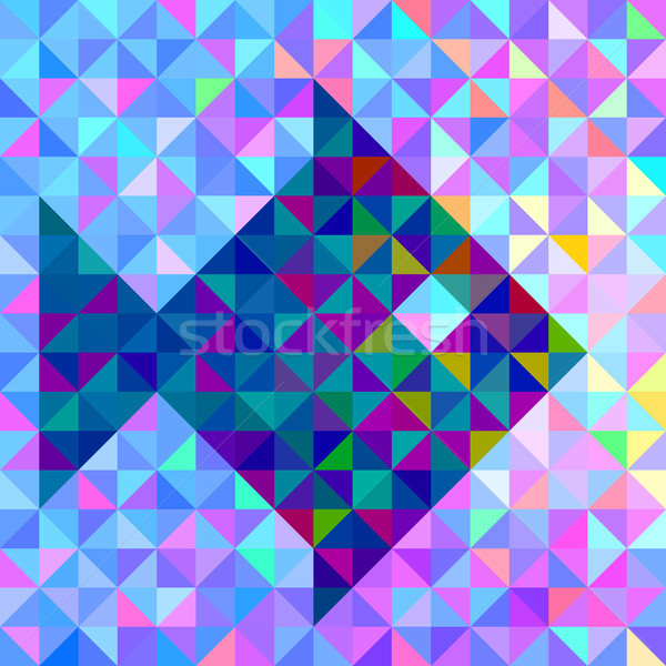 Abstract Vector Geometric Color Background with Stylised Fish Stock photo © ESSL