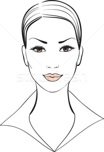 Belle fille vecteur fille femme visage résumé Photo stock © ESSL