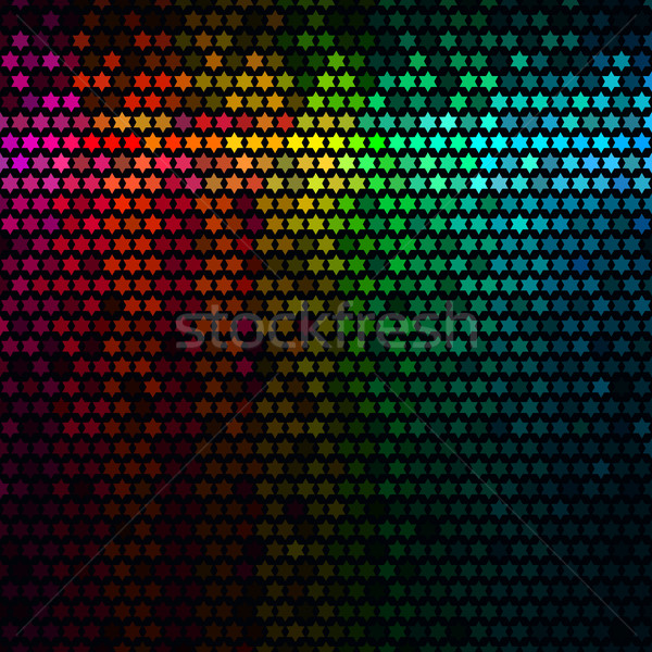 Multicolor abstract lights disco background. Star pixel mosaic vector. Stock photo © ESSL