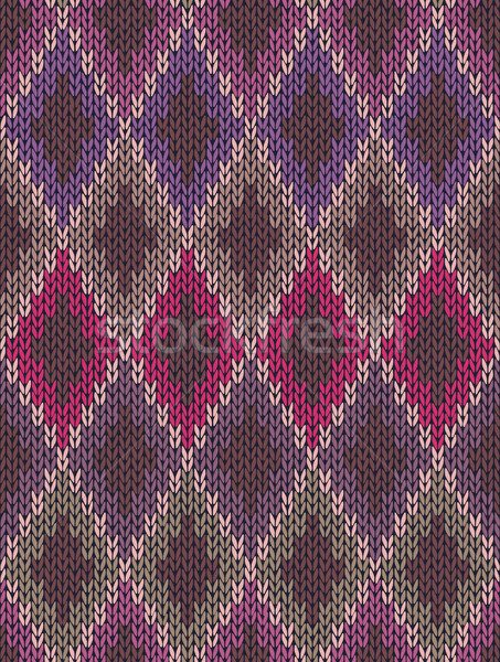 Knit woolen seamless jacquard ornament texture. Fabric color tra Stock photo © ESSL