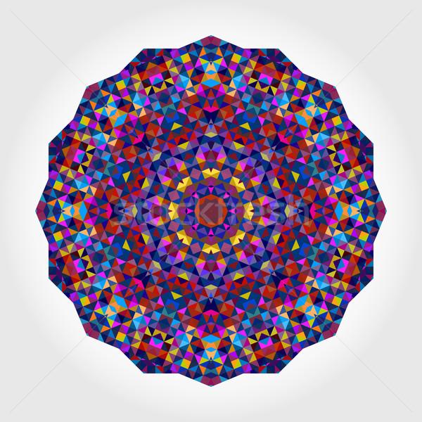 Foto stock: Abstrato · digital · cor · flor · colorido · círculo