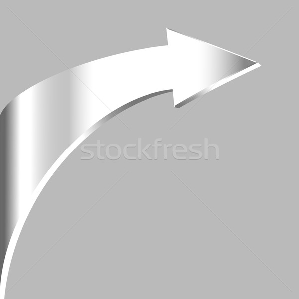 Srebrny arrow neutralny szary streszczenie podpisania Zdjęcia stock © ESSL