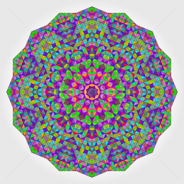 Colorful Circle Kaleidoscope Backdrop. Mosaic Abstract Flower of Stock photo © ESSL