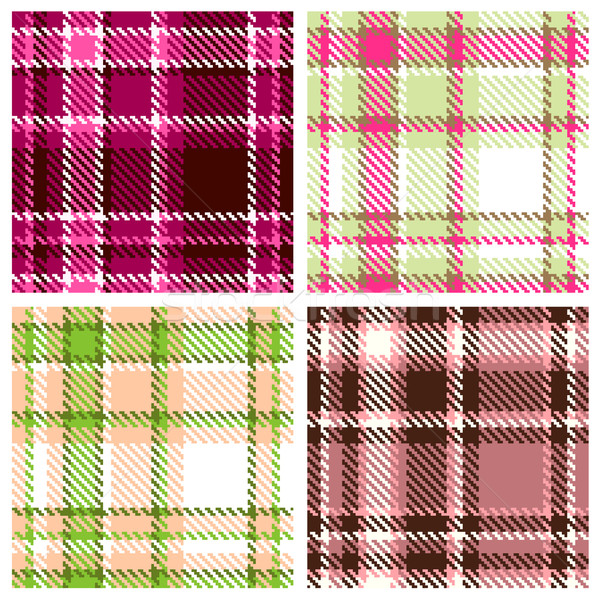 Set of Seamless Checkered Vector Pattern  Stock photo © ESSL