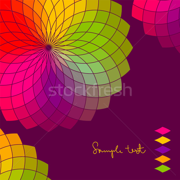Streszczenie kolor kwiat wektora koła wiosną świetle Zdjęcia stock © ESSL