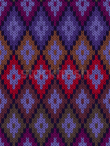 Style Seamless Color Knitted Pattern Stock photo © ESSL