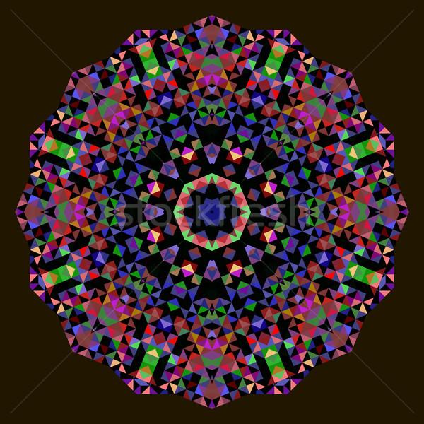 Abstract bloem Rood Blauw groene zwarte Stockfoto © ESSL