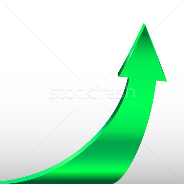 Green arrow and white background Stock photo © ESSL