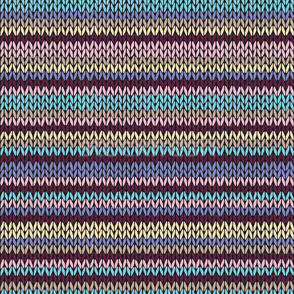 Seamless Color Striped Knitted Pattern Stock photo © ESSL
