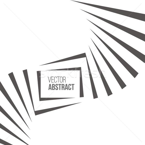 Geometric Vector Black and White Background Stock photo © ESSL