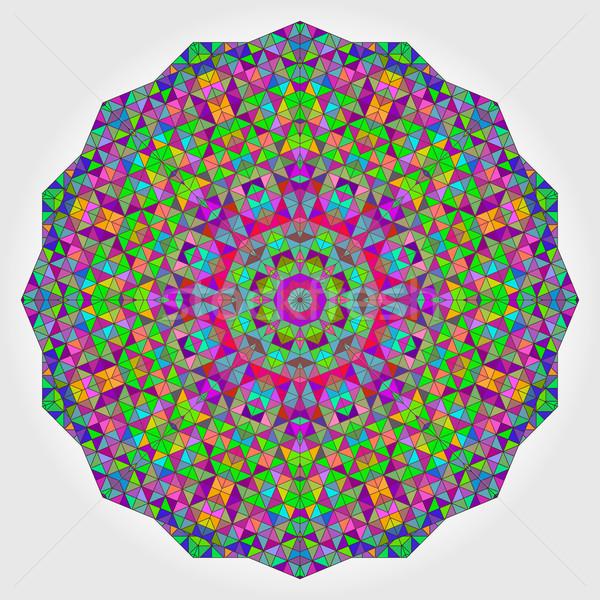 Foto stock: Colorido · círculo · caleidoscópio · fundo · mosaico · abstrato