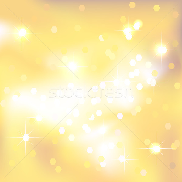 Yellow abstract background with light spots and stars. Stock photo © ESSL