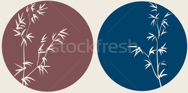 Chinese bamboo branches on circle background Stock photo © ESSL