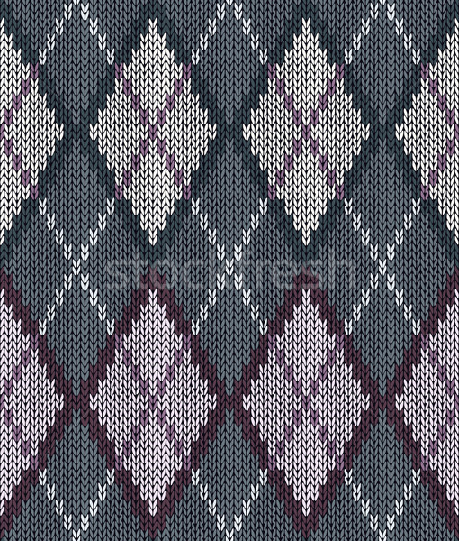 Style Seamless Brown Gray White Pink Color Male Knitted Pattern Stock photo © ESSL