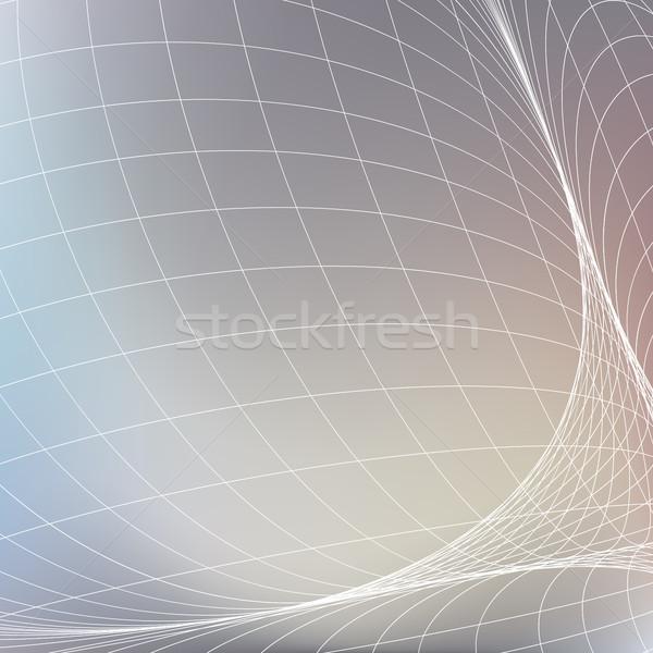 Résumé géométrique blanche grille lumière gris Photo stock © ESSL