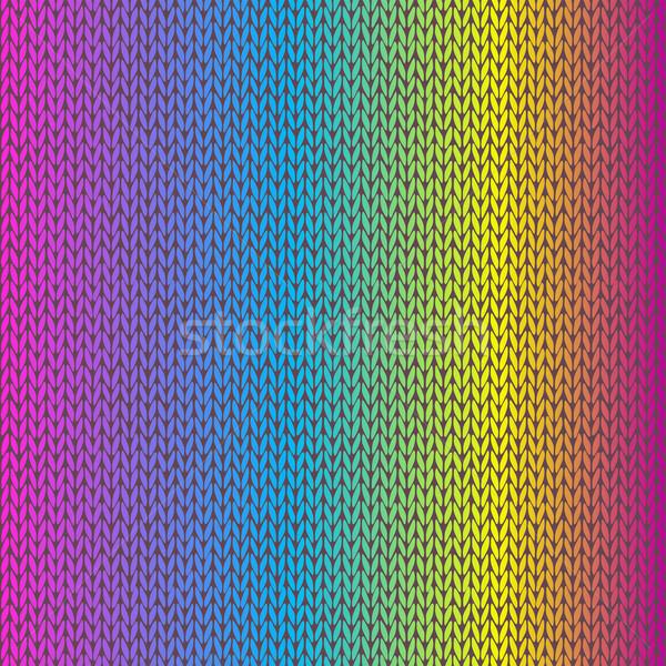 Style Seamless Knitted Melange Pattern Stock photo © ESSL